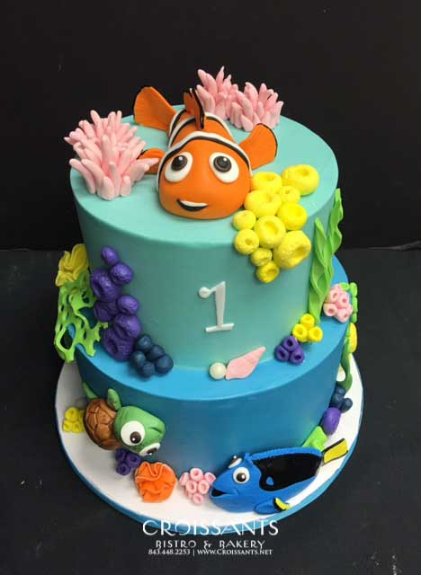 Enjoyable Finding Nemo Birthday Cake Croissants Bistro Bakery Funny Birthday Cards Online Elaedamsfinfo