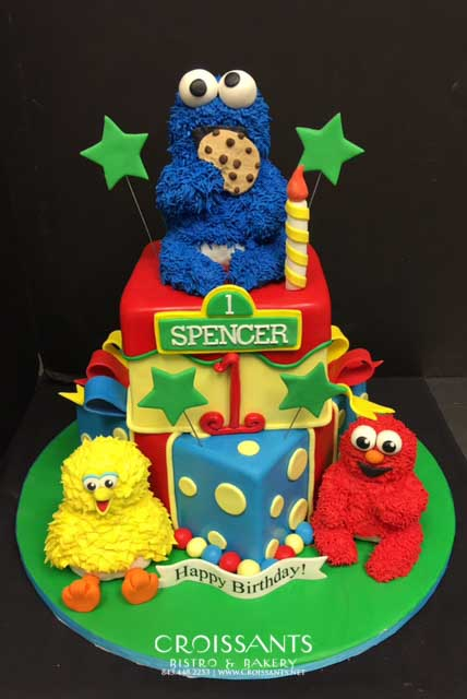Prime Sesame Street Birthday Cake Croissants Bistro Bakery Funny Birthday Cards Online Necthendildamsfinfo